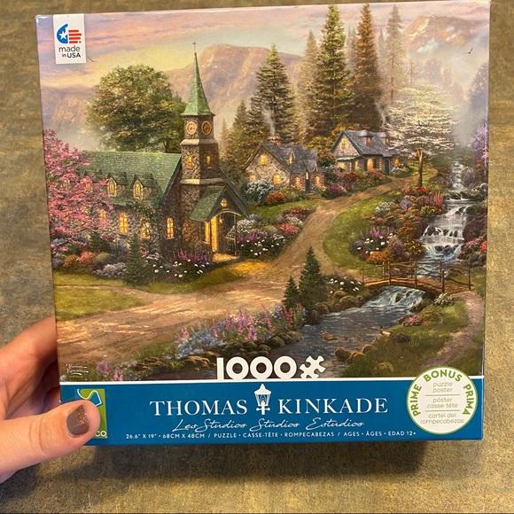 2 for $15/ Thomas Kinkade Sunday Chapel Puzzle